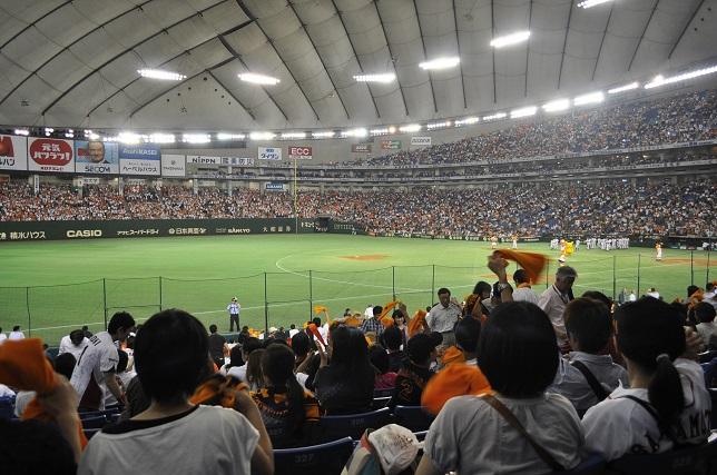 東京ドーム 試合観戦中