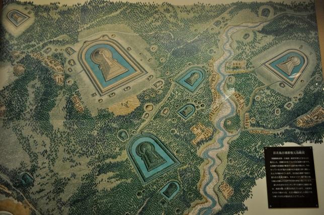 002 百舌鳥古墳群復元鳥瞰図