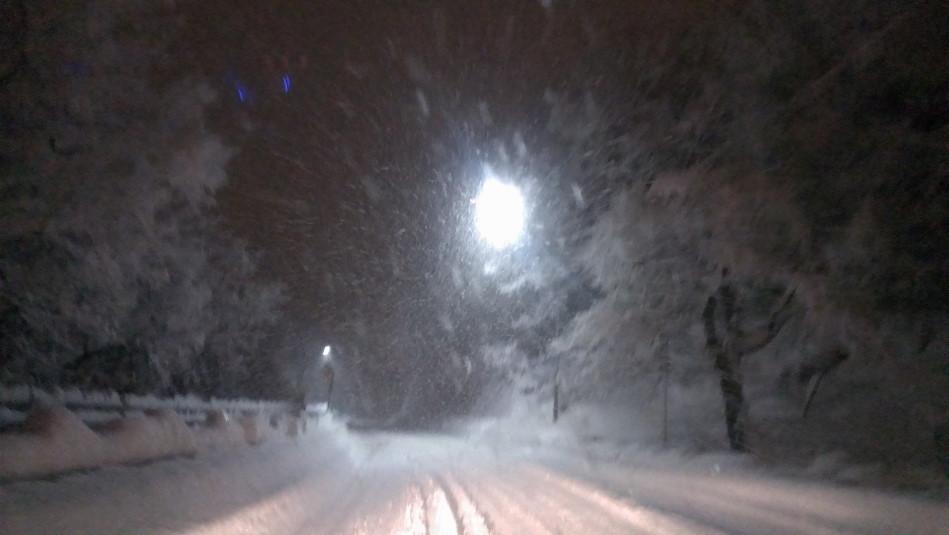 豪雪バレンタイン 国道52号