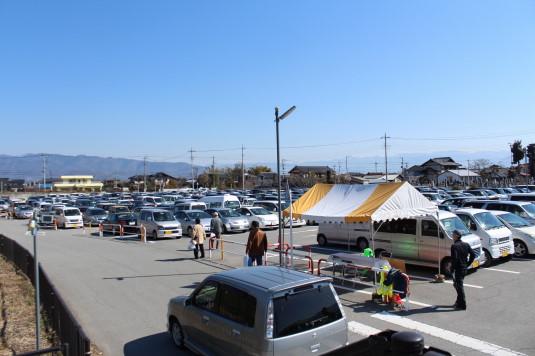 中小企業祭り 駐車場