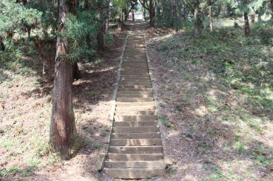 新府城跡 階段