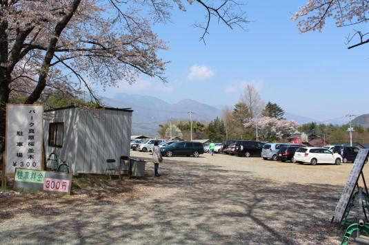 真原の桜並木 駐車場 有料