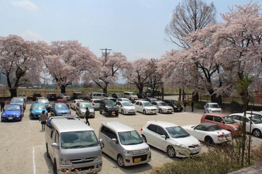 桜 三代校舎 駐車場1