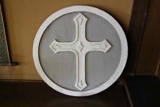 韮崎市民俗資料館 蔵座敷 教会マーク