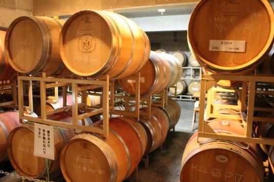 マルスワイン祭り 工場見学 樽