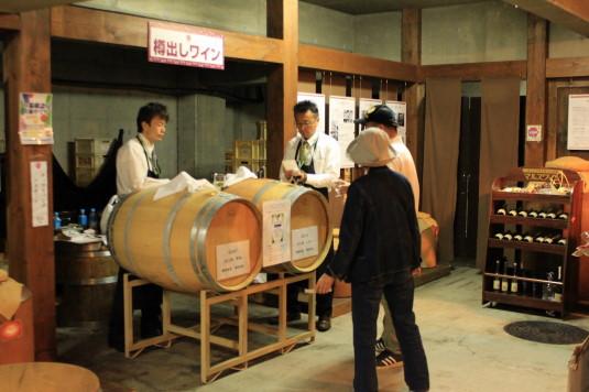 マルスワイン祭り 工場見学 蔵出し