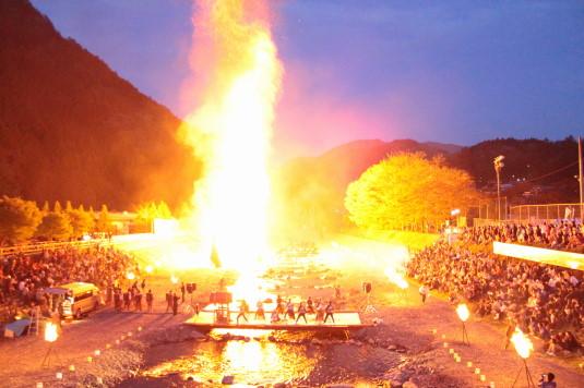 多摩源流祭り 夜の部 ファイアー