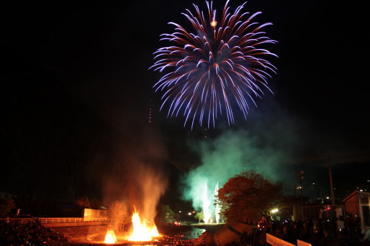 多摩源流祭り 夜の部 花火