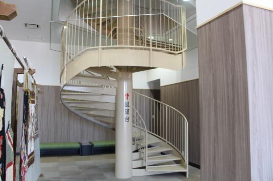 道の駅富士川 藤村式 螺旋階段