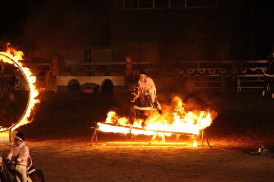 ホースショー ファイヤージャンピング 火の棒
