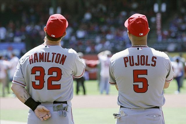 Hamilton and Pujols 2014