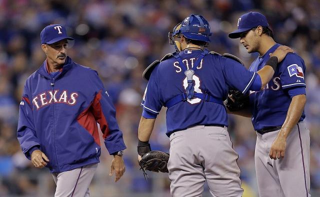 Texas Rangers pitcher 2014前半戦