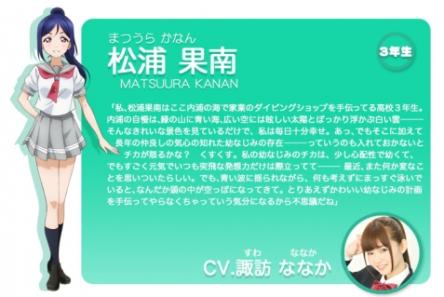 『ラブライブ!サンシャイン!!』松浦果南役の諏訪ななかちゃん、紅白の感想つぶやいたのにすぐに消す! 箝口令でも敷かれてんのか?