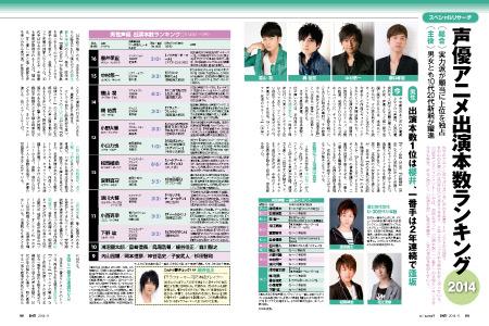 声優アニメ出演本数ランキング2014(1~9月) 男性1位は櫻井孝宏、女性1位は沢城みゆき