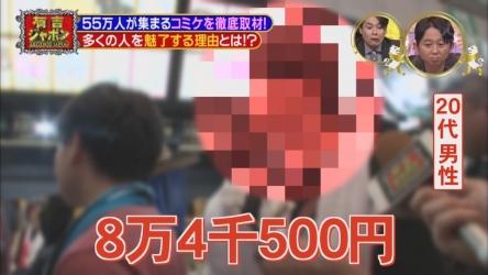 TBS『有吉ジャポン』でコミケ徹底特集!! 結構面白くてワロタwww