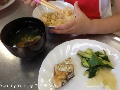 夏休み親子クッキング 20140805様子料理1ブログ用