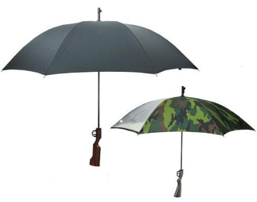 ピストル傘黒迷彩