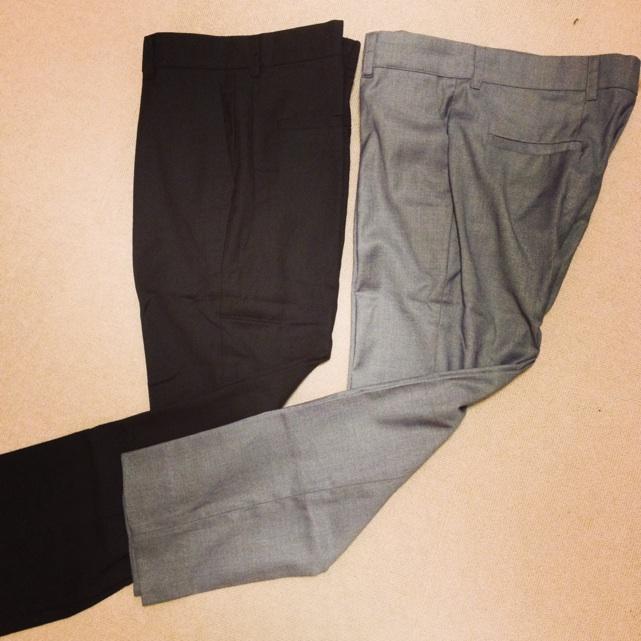 PAO9分丈パンツ黒グレー