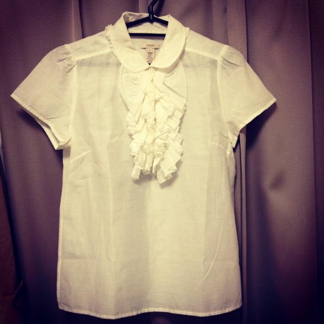 JCrewフリルシャツ