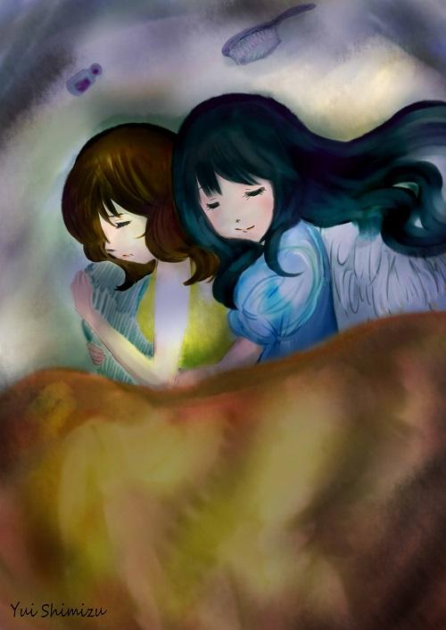 「添い寝」