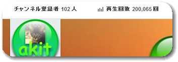 YouTube動画再生回数20万回