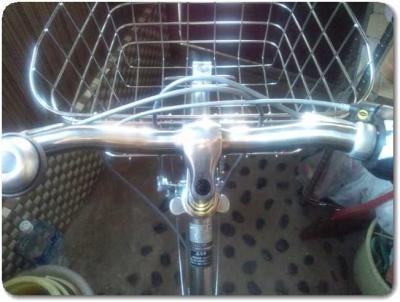 自転車ハンドル調整まっすぐ1