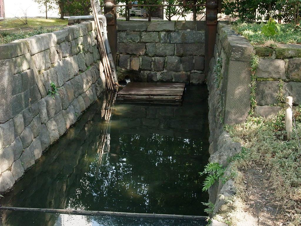 旧芝離宮恩賜公園海水取水口跡
