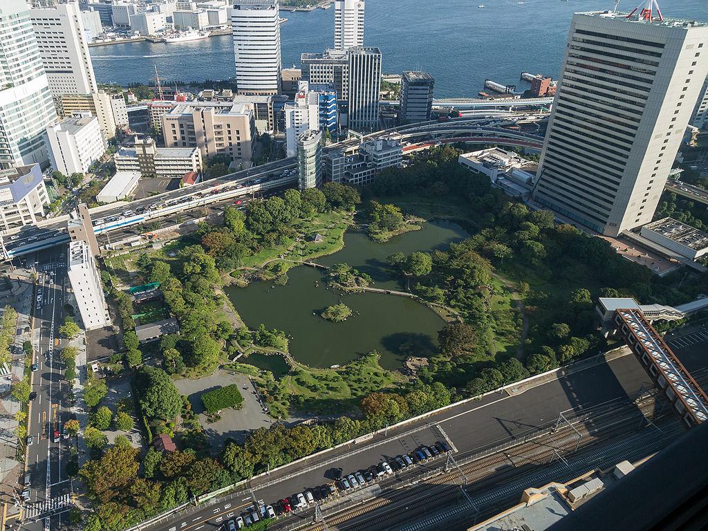 旧芝離宮恩賜公園の俯瞰図