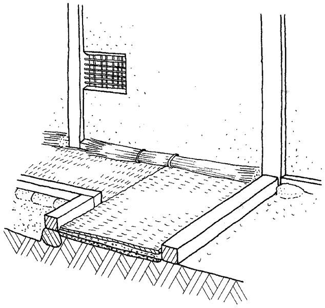 土座のイラスト