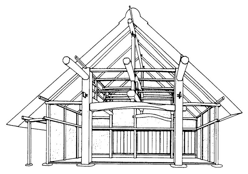 四つ建イラスト