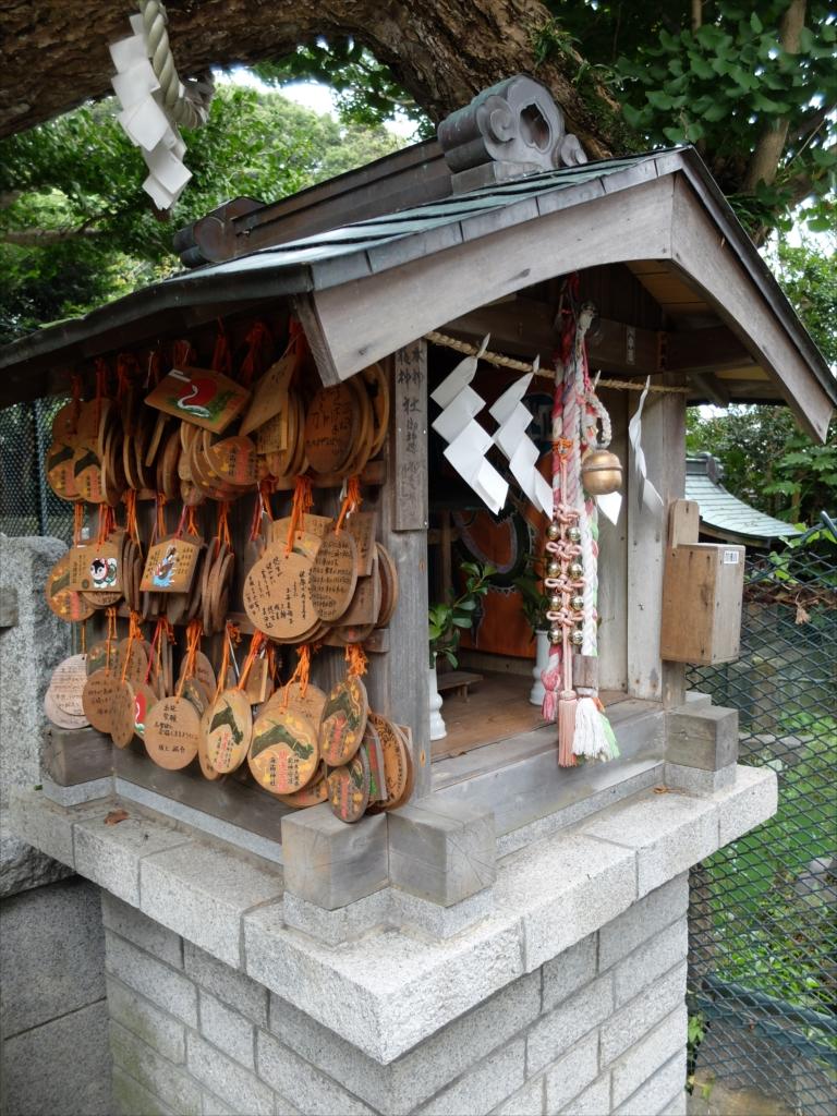龍神社とその上にかかる公孫樹