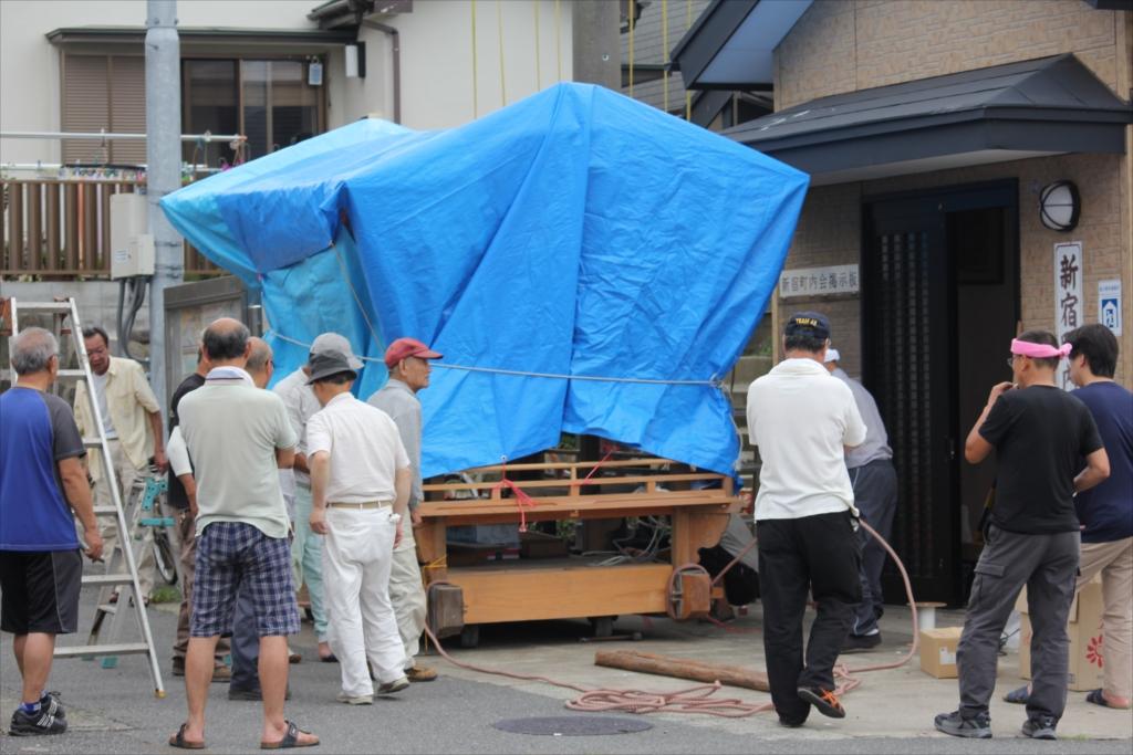 新宿地区の祭りの準備