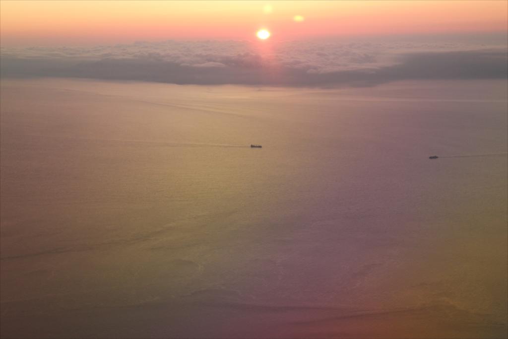日没前の太陽を見ることができた