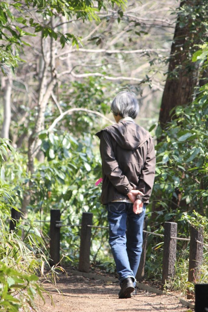 湿地に沿って迂回して武蔵野植物園に向かう_2
