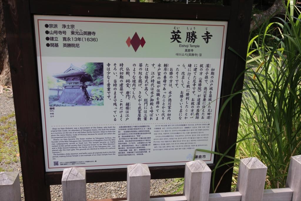 鎌倉市が作成した説明表示板