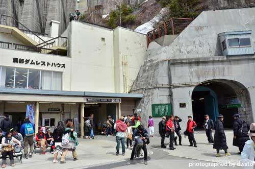 富山県 観光 黒部ダム 黒四ダム 立山黒部アルペンルート トロリーバス の写真18