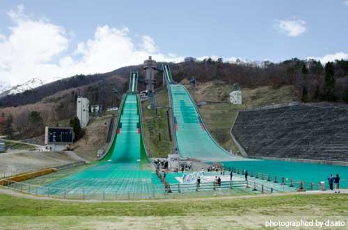 長野県 白馬ジャンプ競技場 見学 白馬ジャンプ台 アクセス方法 住所 スタートタワーについて1