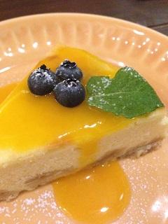 カフェ らふぃる チーズケーキ