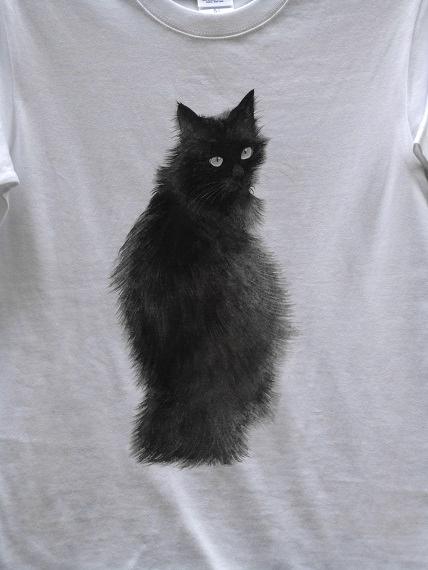 猫 手描きTシャツ