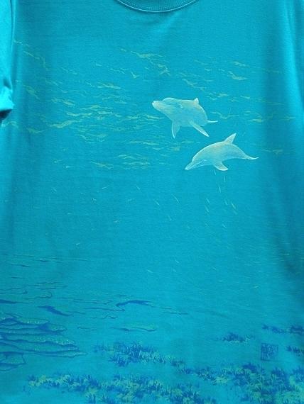 イルカ 手描きTシャツ