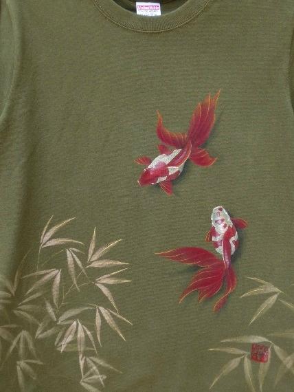 金魚 手描きTシャツ