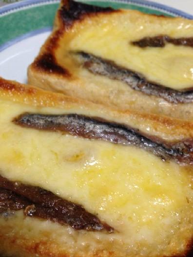 油揚げアンチョビチーズ