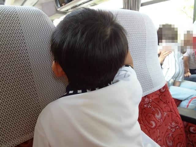 バスでの陸ちゃん