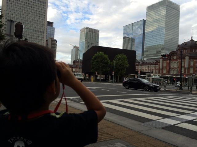 望遠鏡で東京見物