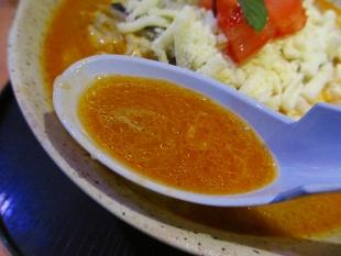めんやちから チーズ味噌ラーメン スープ