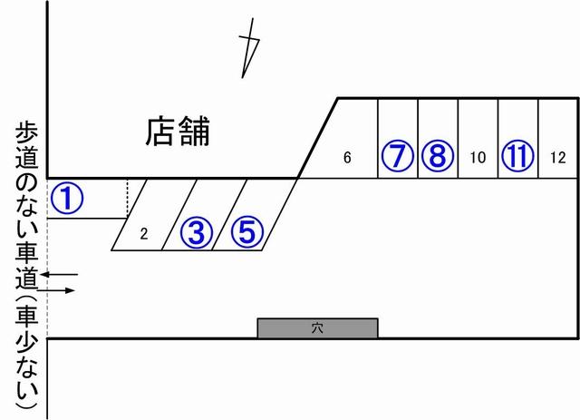 cafeTomiyama駐車場見取り図ver04