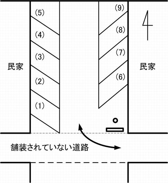 MOND CAFE第2駐車場見取り図