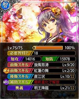 直江兼続SSR+-紅蓮の舞継承