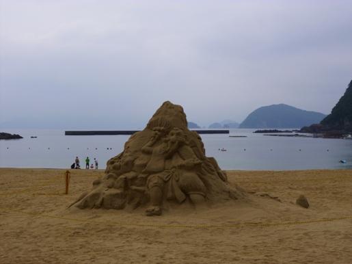 城の浜砂アート