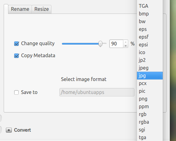EasyImageSizer Ubuntu 画像の圧縮とファイル形式変換